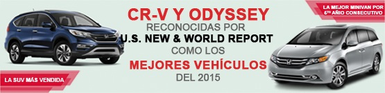 CR-V, ODYSSEY, reconocidos como los mejores vehículos familiares