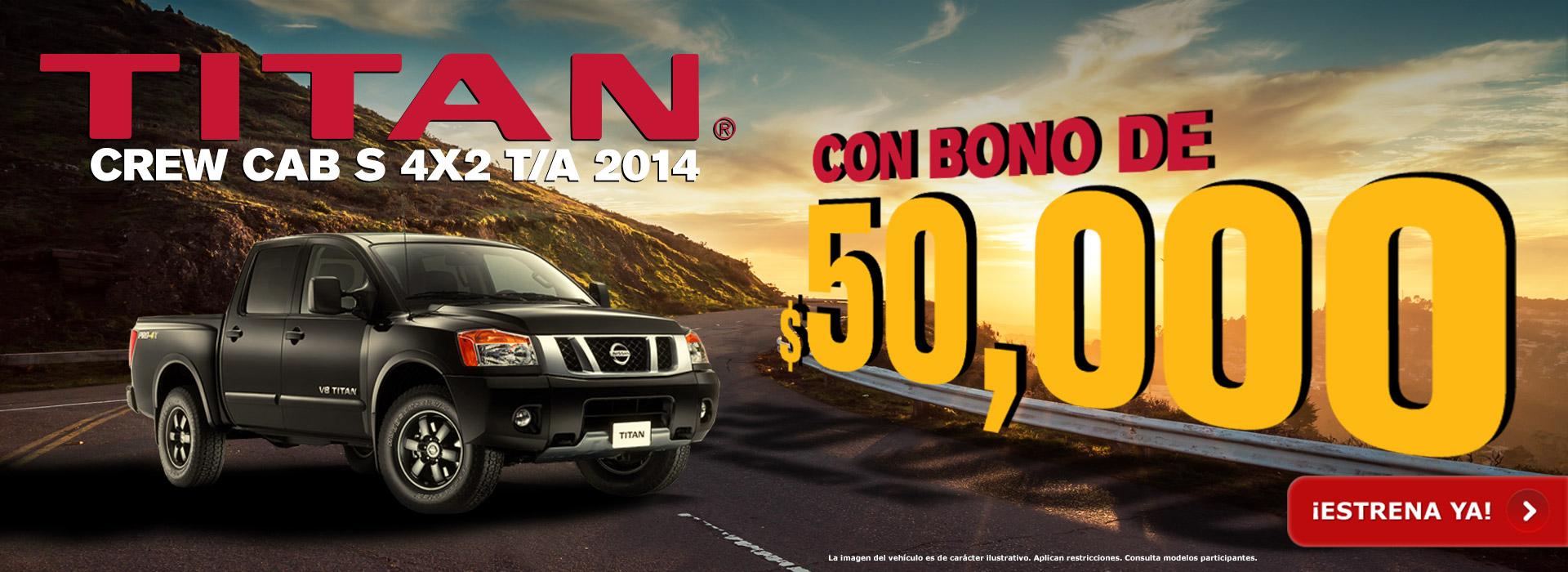 Titan Crew Cab 2014 con bono de $50,000