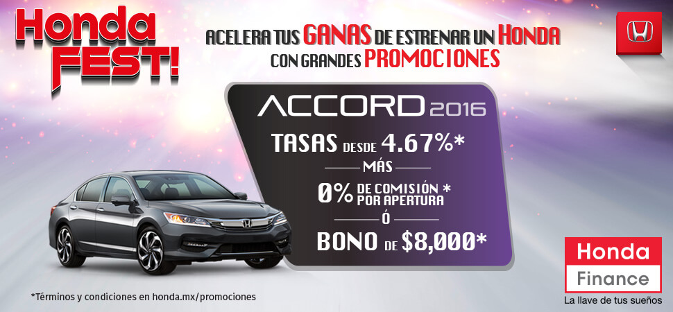 Promociones Honda Accord