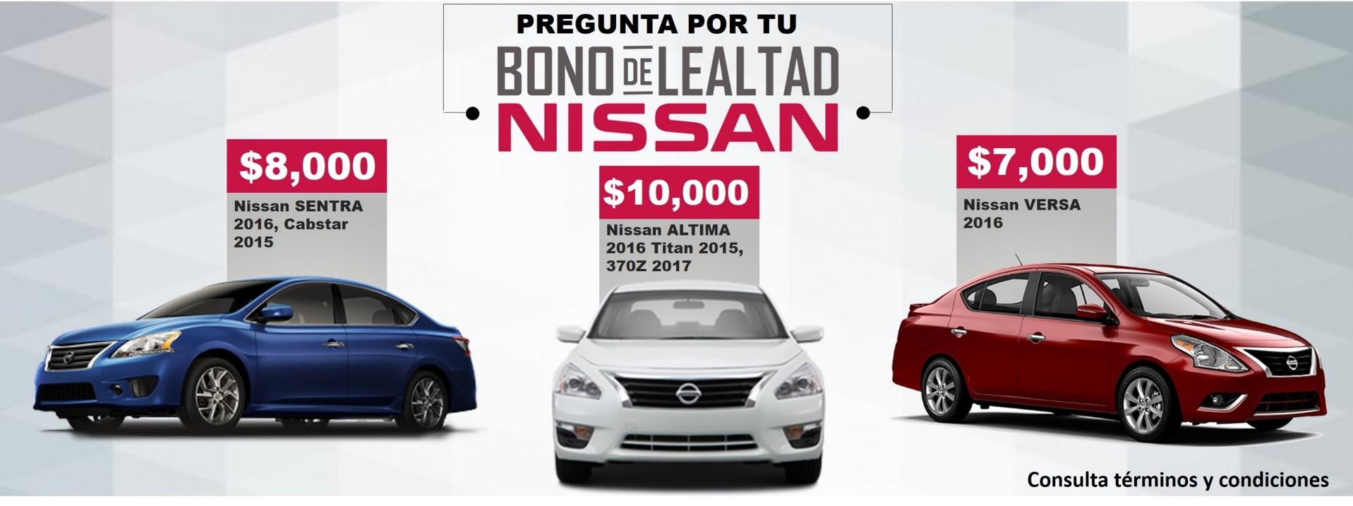 Nissan bono de lealtad Toluca, Metepec Zinacantepec San Mateo Valle de bravo