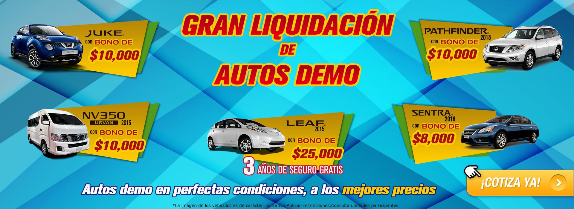 Gran liquidación de autos demo