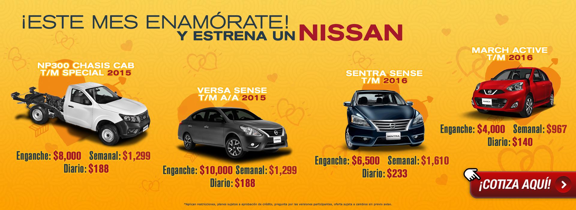Este mes enamórate y estrena un Nissan con Sicrea