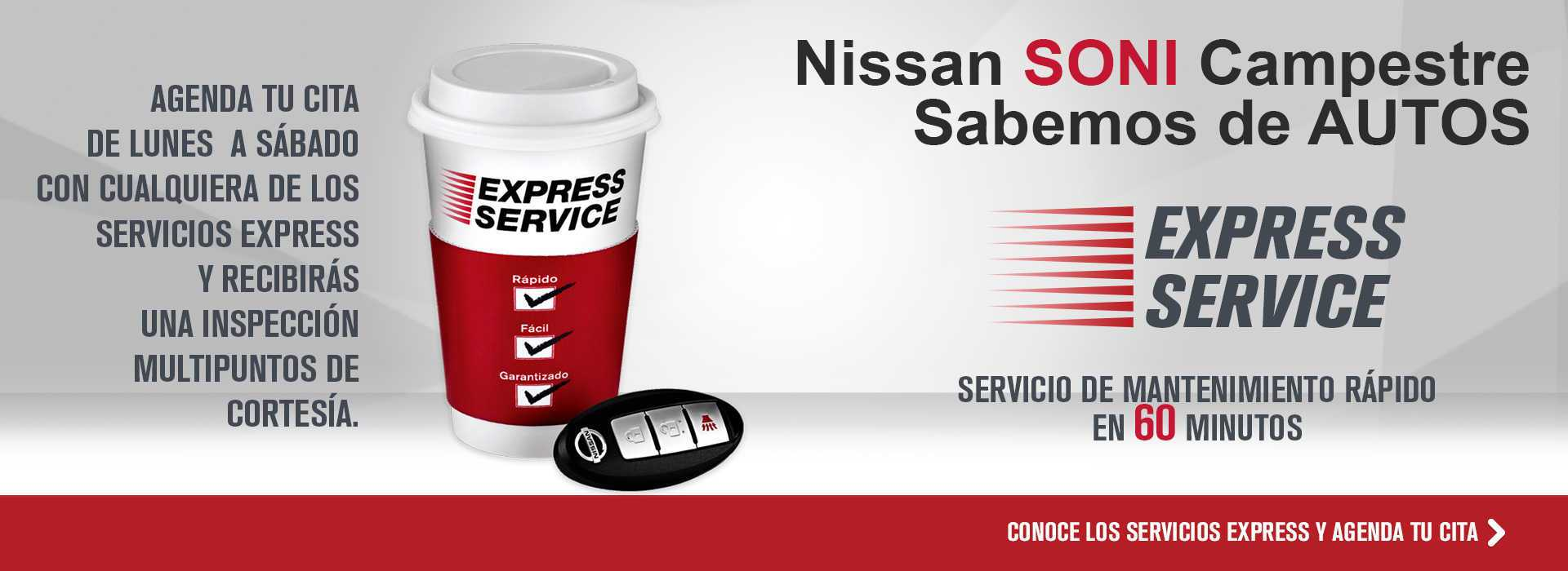 Agenda tu cita de Servicio Express
