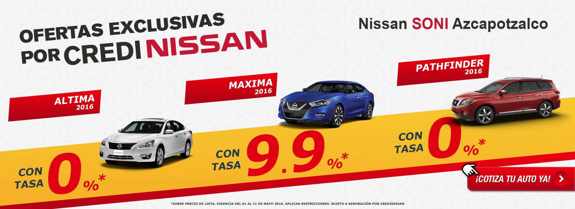 Ofertas exclusivas por Credi Nissan