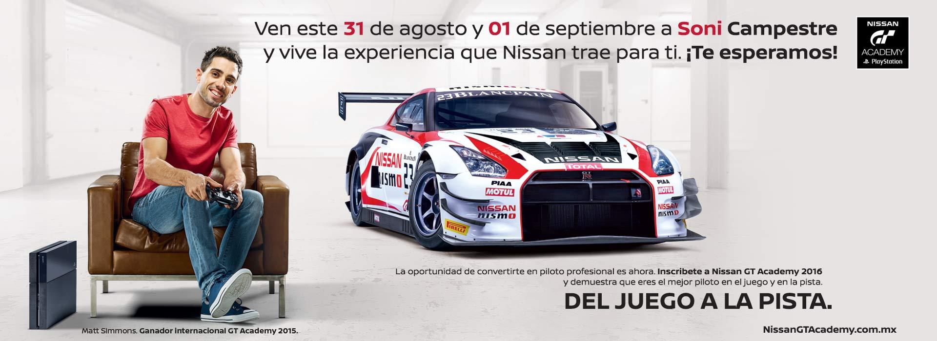 Nissan GT Academy- Soni Campestre