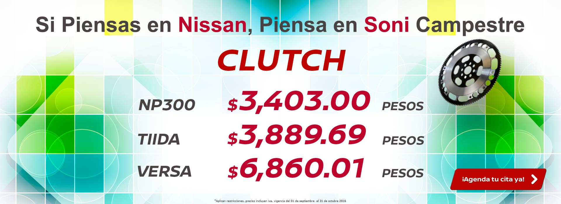 Promociones de Posventa - Clutch