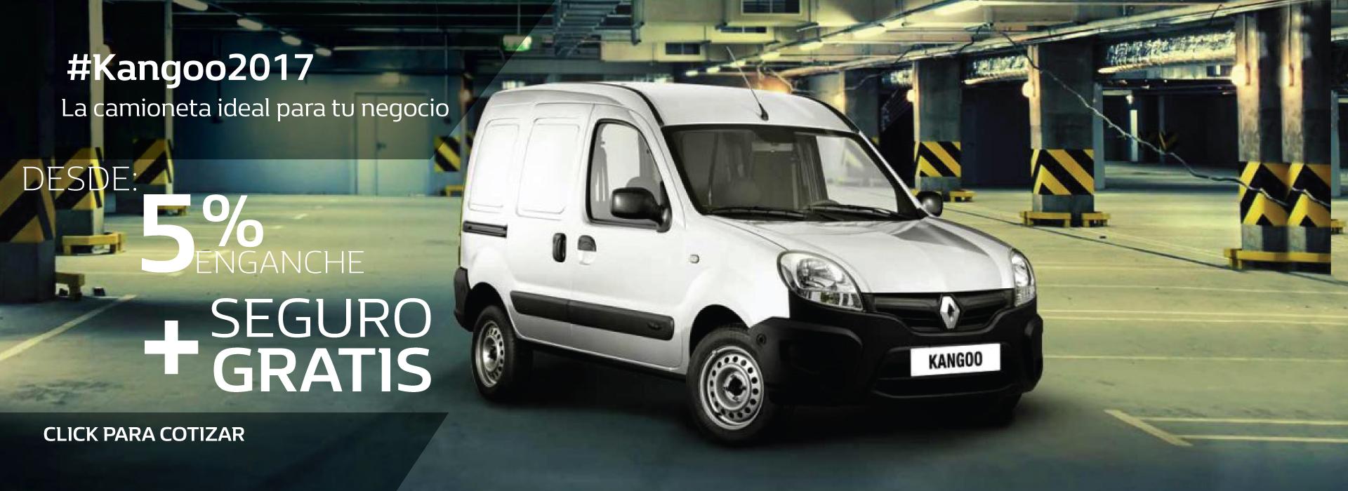 Renault Kangoo desde $2,719 mensuales