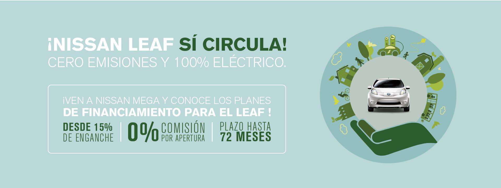Nissan Leaf 100% electrico cero zero emision toluca calimaya zinacantepec metepec