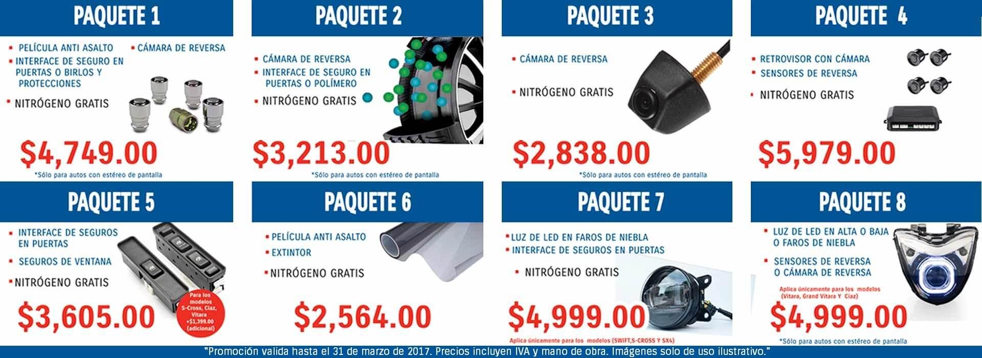 PAQUETES DE ACCESORIOS