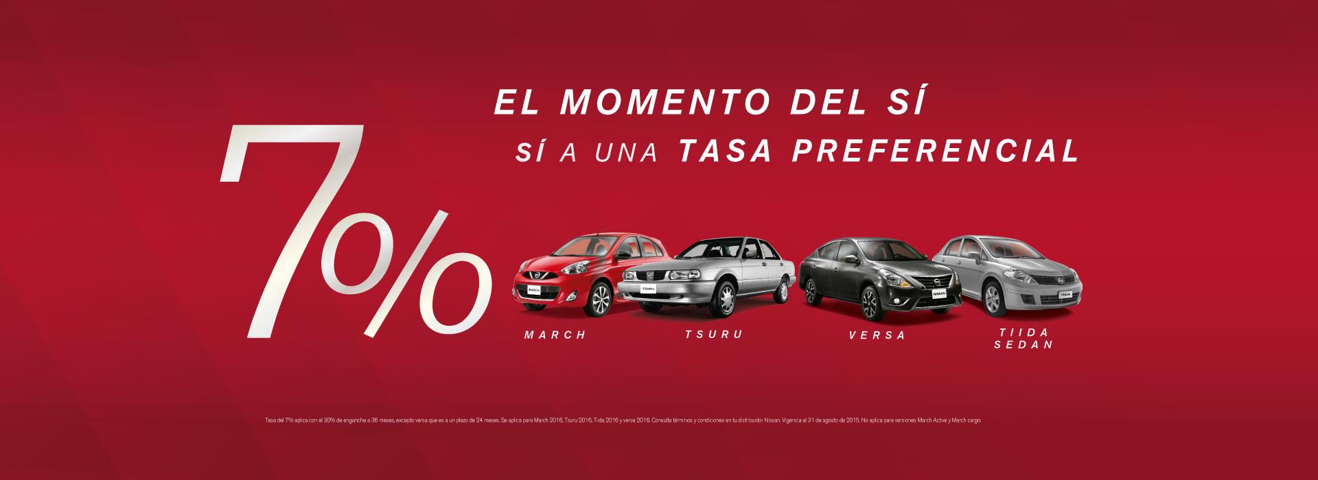 Promoción 7% Gama Nissan