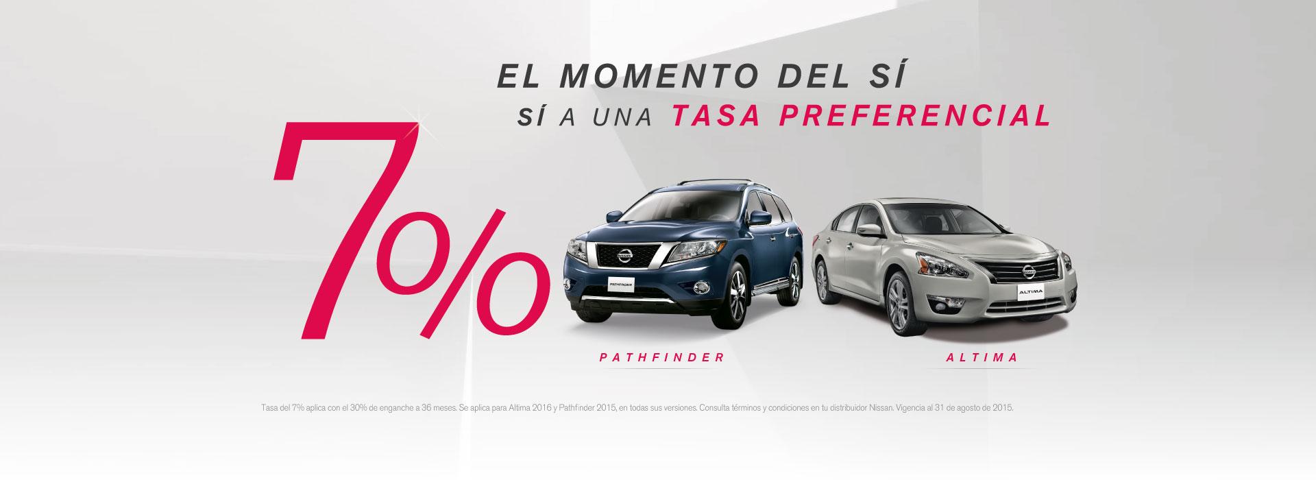 Promocion 7% Pathfinder y Altima