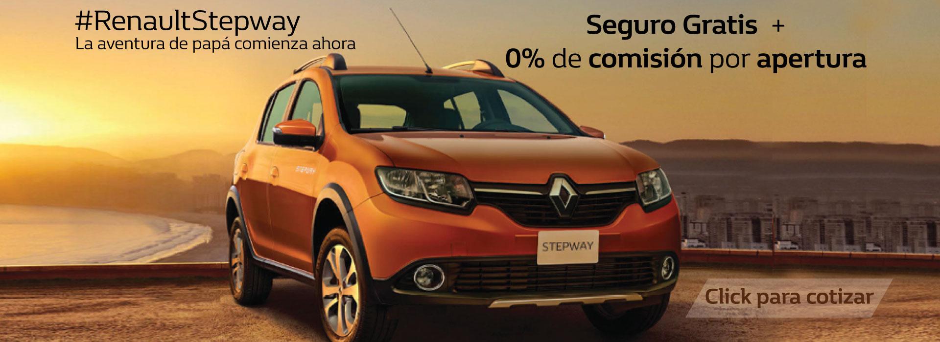 Renault stepwaySeguro gratis + 0% de comisión por apertura