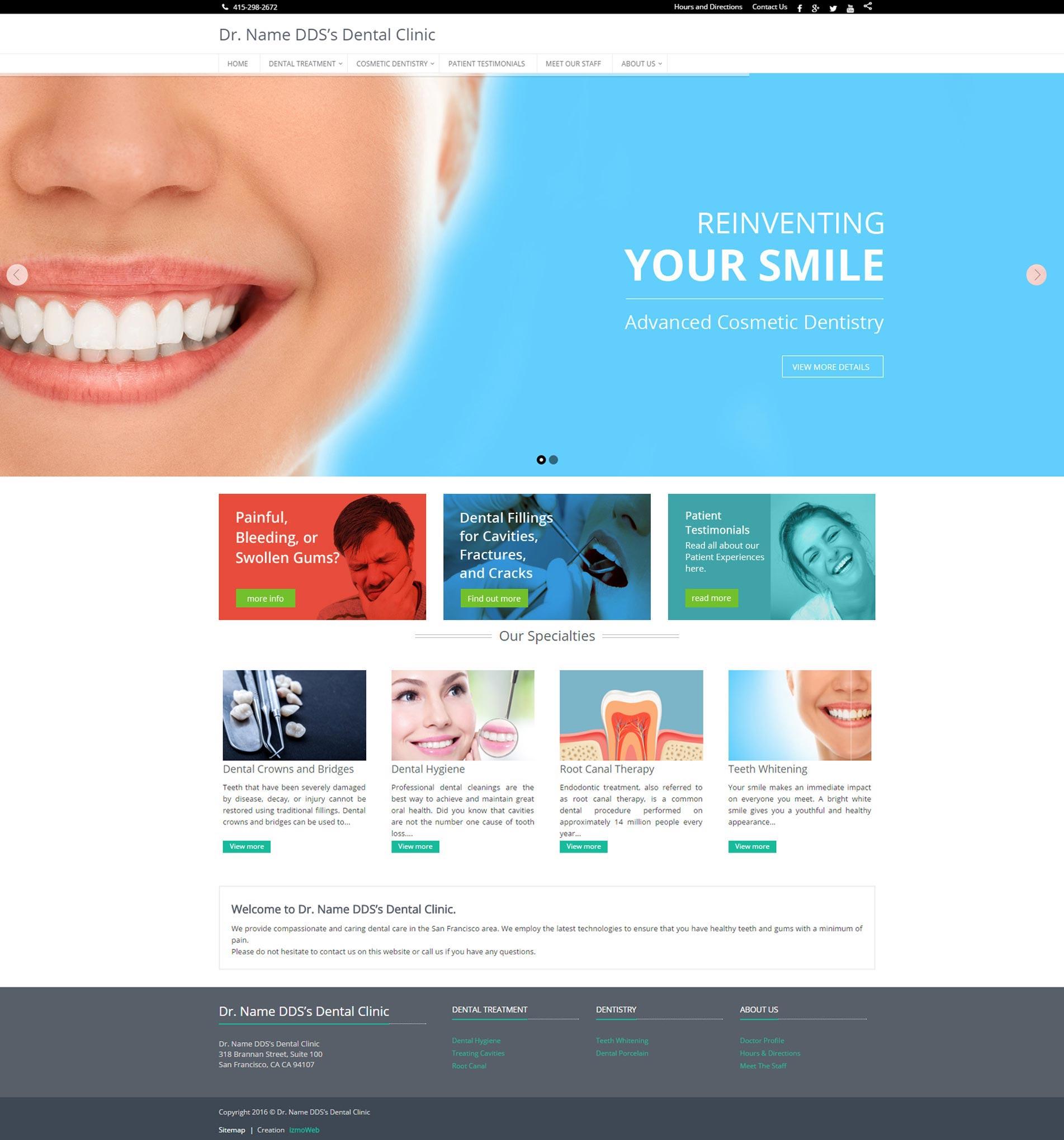 Dentistry Websites - Demo | izmoMD, San Francisco